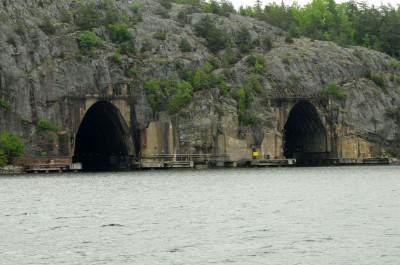 These tunnels, formerly part of Sweden's Musko Naval Base, once housed underground docking and drydocks.
