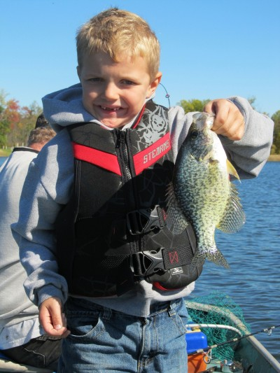 Tyler Malsch shows that trolling can produce Michigan crappies.