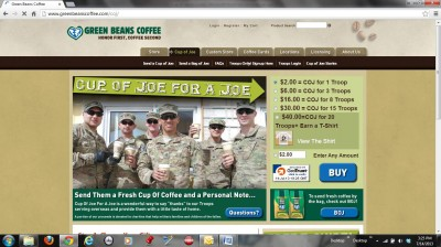 The website is safe and easy to use for a credit card donation.  Click on the link to the left or just google Cup of Joe for a Joe.