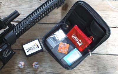 The package includes everything you need to store and maintain your Nitro Elites.