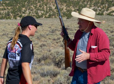 """Are you seriously telling me this huge black powder rifle has hardly any kick?"" But seriously, volunteers were on hand to teach, assist and welcome. Thanks!"