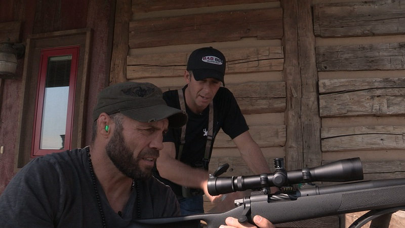 Randy Couture and Tom McMillan hunt together on Meet the McMillans on Sunday, July 28 at 8:30 pm ET/PT.