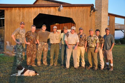 A dove hunt in the South is truly a social event.