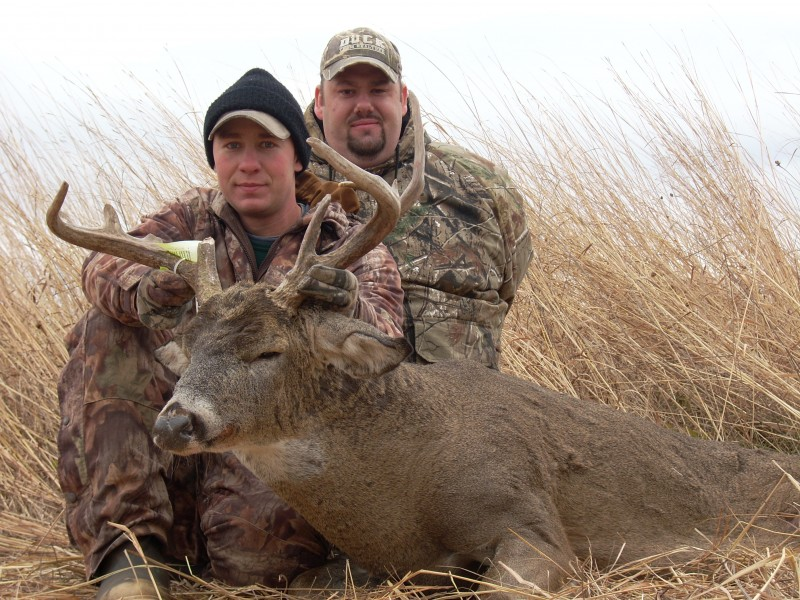 Small, out-of-the-way food plots can yield good bucks like this one.