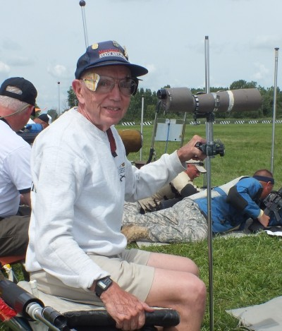 At 75 years, Jim Laughland is still winning. His 300-yard rapid-fire took High Grand Senior on Day Two.