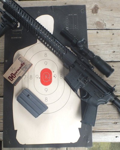 From a prone position, using the foregrip as a monopod, the CRP-18 landed 10 shots in a 2.5-inch group at 200 yards. It's the rifle that will be accompanying me to the M3GI this year.