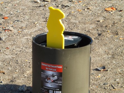The front of the Varmint Target is protected by a quarter-inch-thick plate of rolled steel.