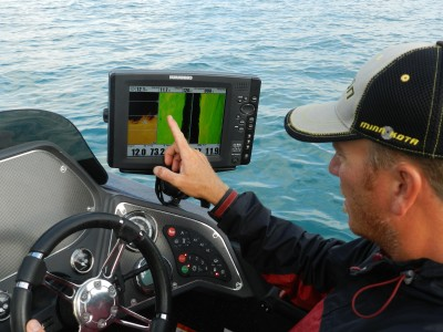I use a Humminbird GPS unit on both the front and rear of my boat. The device helps me see exactly where I'm at all the times.