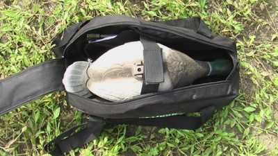 The included bag stores your decoys safely and securely.