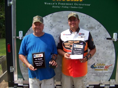 King Kat first place winners, Jerry Walker and Kenneth Lutrell.
