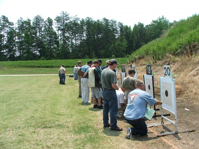 Even small matches like this 100-yard walk-and-paste High Power match can be stressful to new shooters. The best way to prepare for a competition is to simply compete as much as possible.