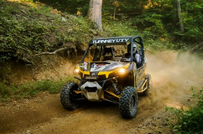 Kyle Chaney (JB Off-Road / Can-Am) piloted his Can-Am Maverick 1000R X rs to the QR1 class overall win at round seven of the UTV Rally Raid Northern Series in Tennessee.