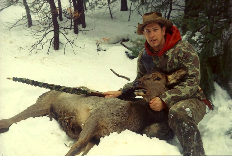 The elk made it only 30 yards after being struck by Dunn's arrow.