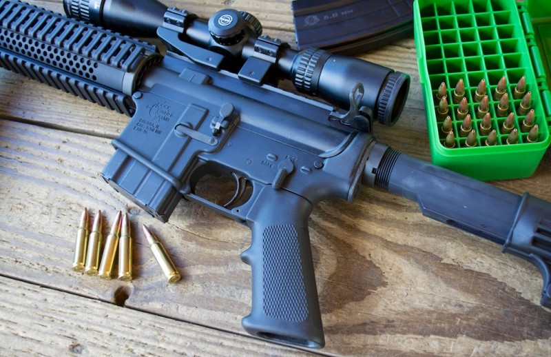 The Rock River Arms 6.8 SPC CAR. Shown here with a 5 round magazine and a Hawke Optics Panorama EV scope.