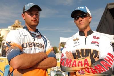 Shane Powell of Auburn University squares off against Jacob Nummy of Auburn University at Montgomery.