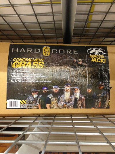 The Duck Commander crew knows the importance of brushing in the blind. They also know quality products when they see them! And that's a fact, Jack! Image by Seth Walden.