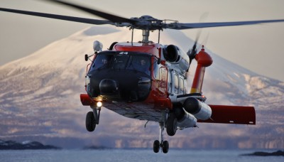 A helicopter from US Coast Guard Air Station Sitka recovered a starving hunter after he spent days in the Alaskan wilderness.