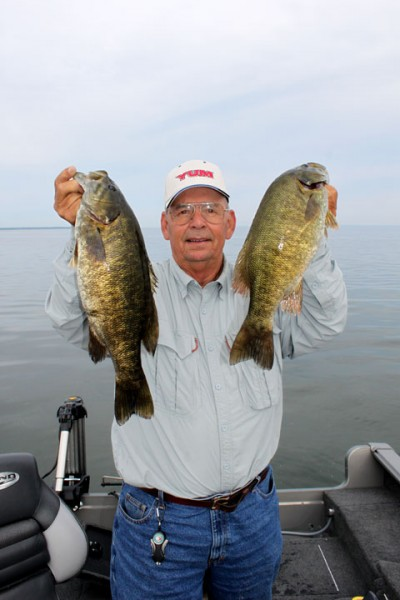 It's a shallower bite for smallmouth in early to mid-fall on Lake St. Clair.
