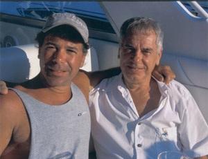 Cornel Dolana (right) and his son Corey in Connecticut in 2006.