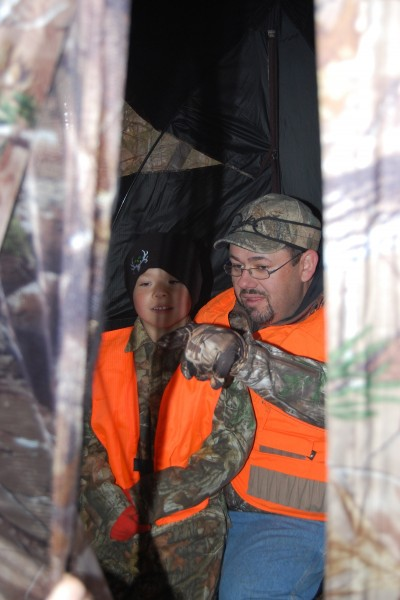 Ground blinds are great tools for taking kids hunting during firearm deer season.