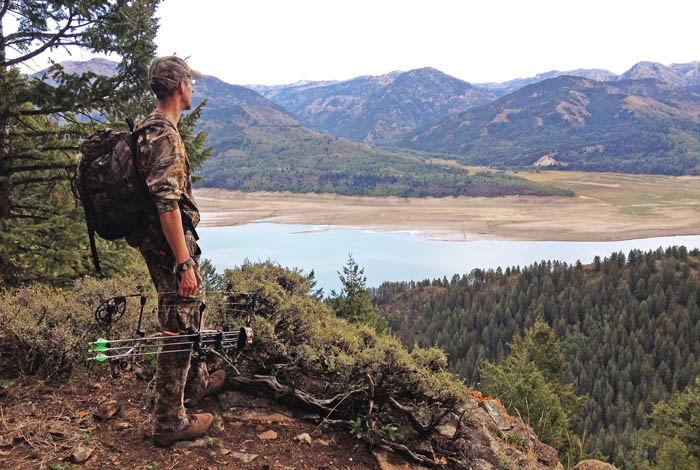 Chris White admires the view from a mountaintop in southeastern Idaho.