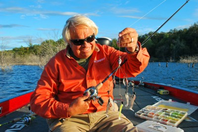 Jimmy Houston prefers a Flash Mob Jr. for fall bass fishing.