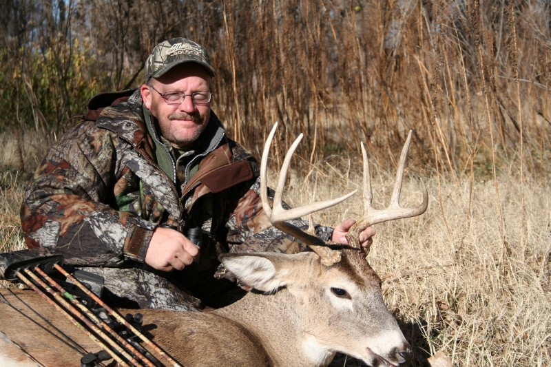 "The author harvested this buck soon after it checked a scrape ""freshened"" with urine."