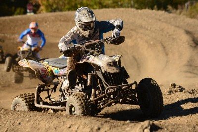DS 450 ATV racer Travis Moore reached both the Pro and Pro-Am class podiums at round 11 of the NEATV-MX series at MX101 in Epping, N.H.