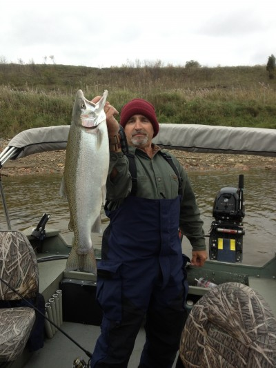 Steelhead are among the gamefish that become active come autumn. Image courtesy Doug Stewart.
