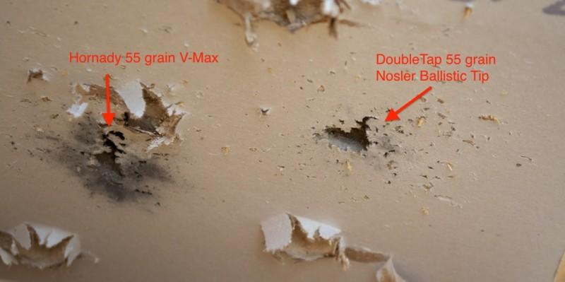 Both loads displayed aggressive fragmentation.