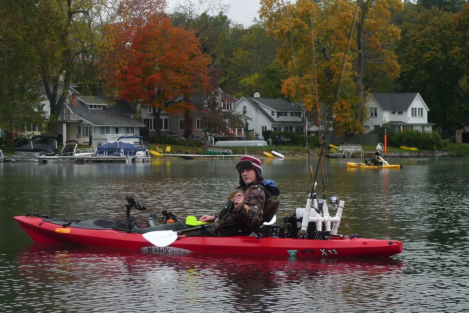 The kayak kid cashes in on michigan fall fishing outdoorhub for Kayak fishing tournaments near me