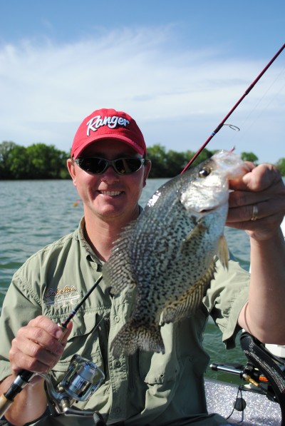 Kevan Paul caught this crappie in Clear Lake in northcentral Iowa.  Several species of panfish are on the upswing in Clear Lake.