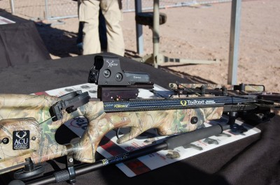 EOTech's XBow sight, seen here on a TenPoint bow, is one of the latest sighting systems available to crossbow hunters.