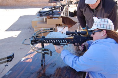 The author's wife took a shine to the extremely user-friendly Kodabow crossbows.