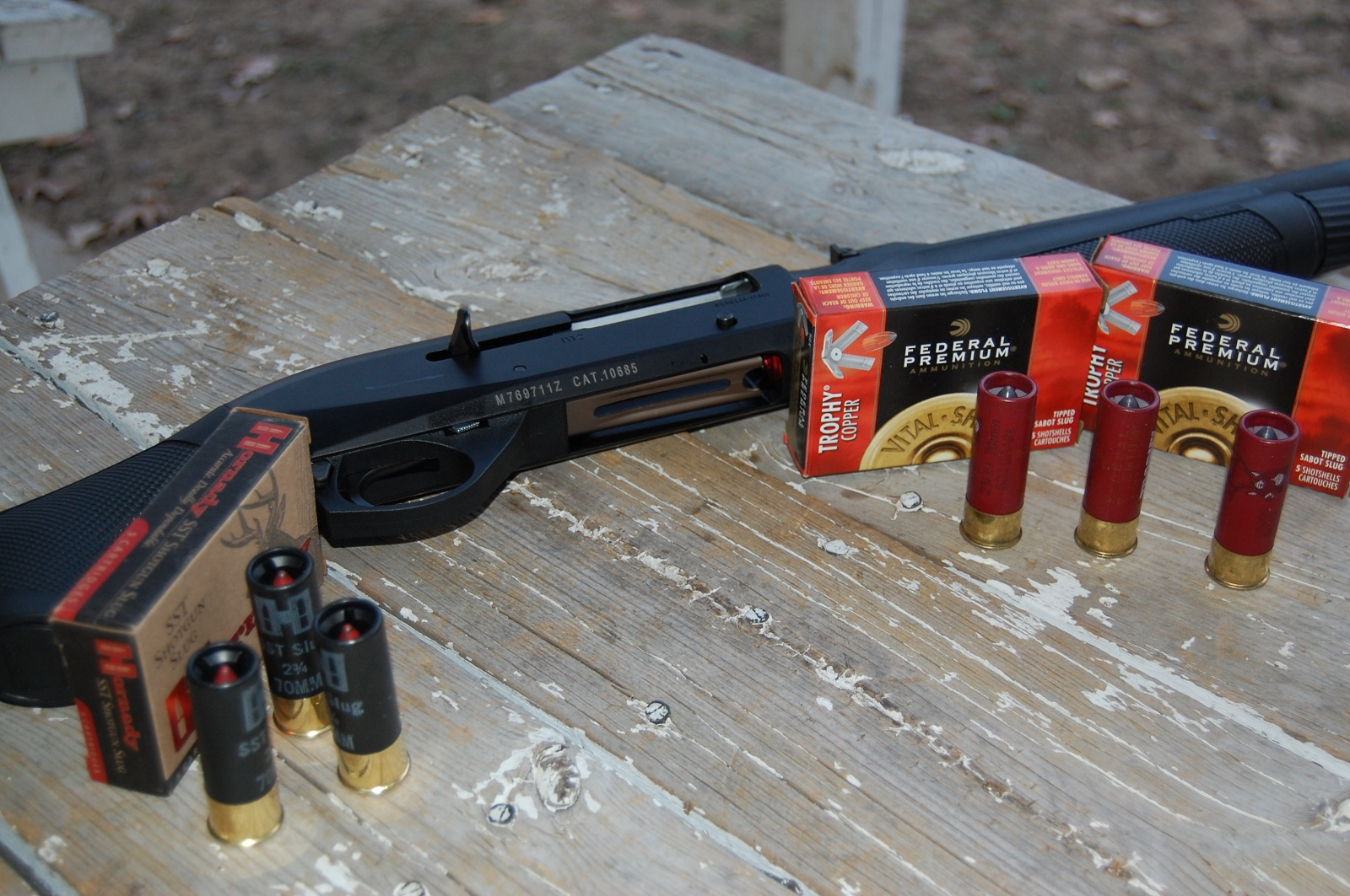 Benelli M2 Tactical Reviews - Federal slugs were the most consistent through the m2 but the hornady ssts were a