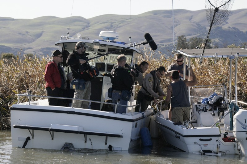"As nature TV shows introduce more people to wildlife conservation, concern for environmental problems increases. One consequence is the popularity of game warden TV shows including ""Wild Justice"" on the National Geographic Channel. Notice the number of people on the filming crew. Image by Matt Elyash, California Department of Fish and Wildlife."