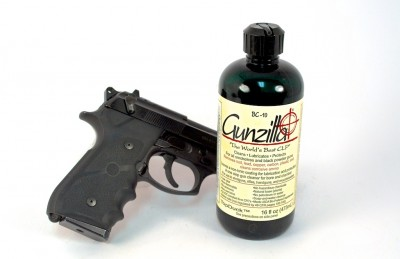 Gunzilla CLP is especially nifty on guns with rubber grips and polymer frames.