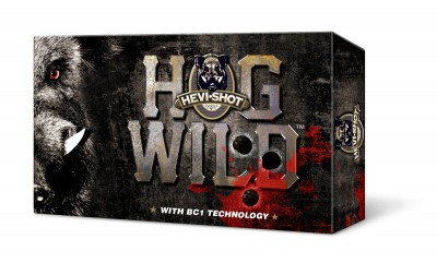 A box of HEVI-Shot hog ammo.