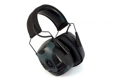 The Howard Leight Impact Pro ear muffs are thick and have a 30db protection rating.
