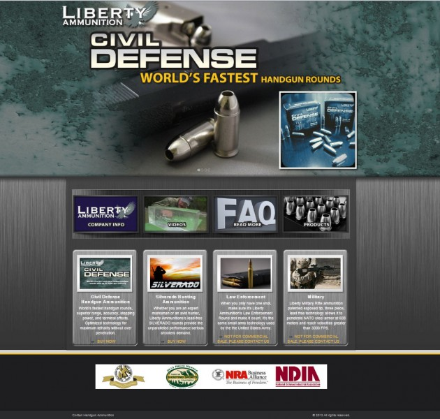 Liberty ammunition launches new website and emerging media for Liberty home protection