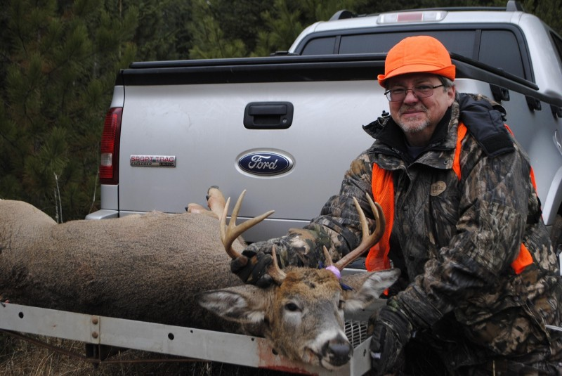Michael Hoganson poses with his opening day buck.
