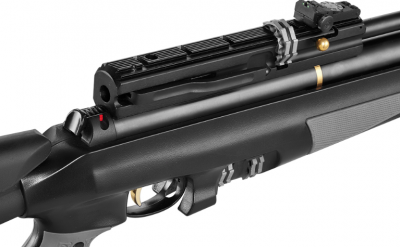 The Airgun features a removable telescopic stock, three Picatinny rails, a scope mount rail, and fitted sling swivels.