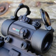 TruGlo's TG8030B red dot sight mounted on an AR-15. Selling for roughly $50 and under, the TG8030B is one of the most affordable red dot sights available to shooters.