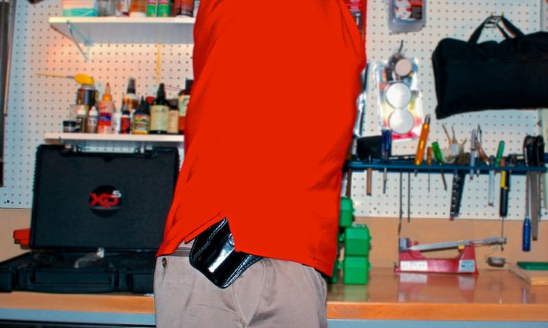 A simple reach can out you. Here, an inside the waistband holster, or a little more awareness, would have solved the problem.