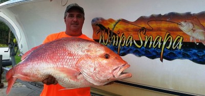 Doug Borries' 26 lb 9 oz red snapper.