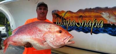 Doug Borries' 26 lb 9 oz red snapper.