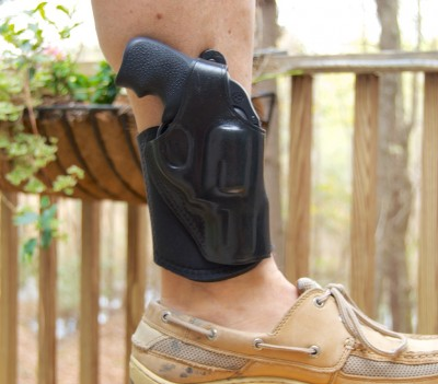 Depending on your daily lifestyle, and ankle holster like this Galco Ankle Glove may be your most accessible option. It's not nearly as effective when wearing shorts however.