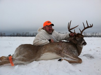 Cabela's Mark Nelsen took this mature Saskatchewan buck in temperatures well below zero. Do you think he was wearing layers? Image courtesy Mark Nelsen.