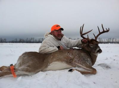 Cabela's Mark Nelsen took this mature Saskatchewan buck in temperatures well below zero. Do you think he was wearing layers? Image courtesy Mark Nelsen.