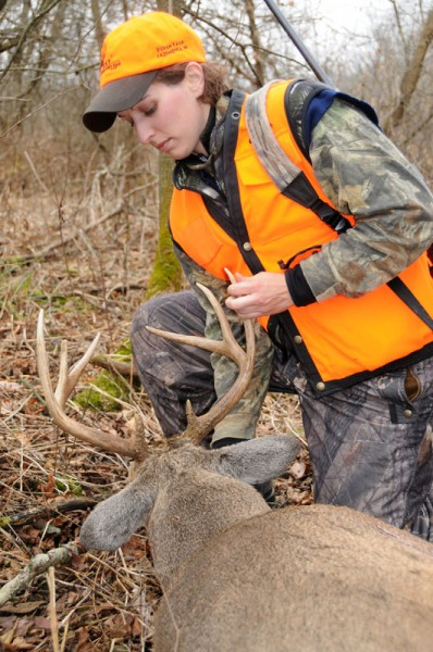 Leah Durkin with a buck she shot in 2009 while hunting on her great-uncle's farm in southwestern Wisconsin.